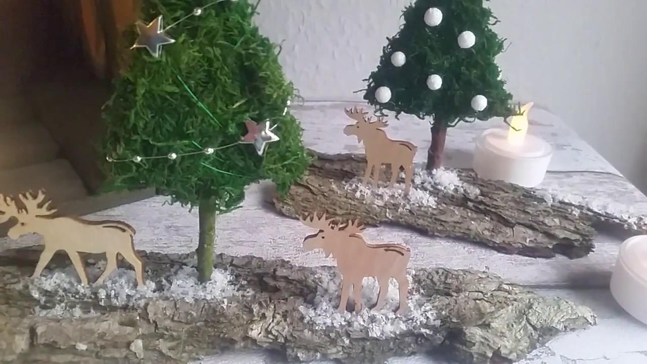 Weihnachts Winter Deko Einfach Selber Basteln Youtube