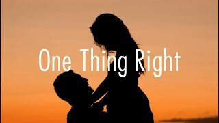 Marshmello - One Thing Right Ft. Kane Brown // lyrics