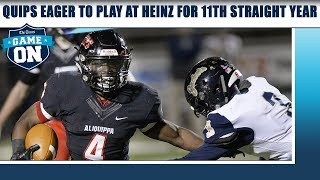 Game On: Quips eager to play at Heinz for 11th straight year