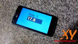 Датчик температуры с выводом измерений на Android смартфон - проект на Arduino(Проект на Arduino датчика температуры с выводом результатов измерения на Android смартфон или планшет. Полное..., 2014-12-31T06:06:35.000Z)