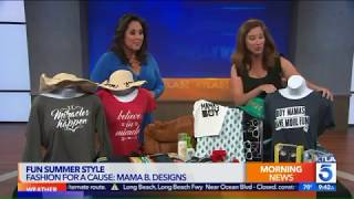 Mama B. Designs on KTLA- Summer 2017