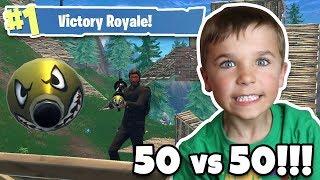 VERSION 2 50 VS 50 MODE in FORTNITE VICTORY ROYALE!