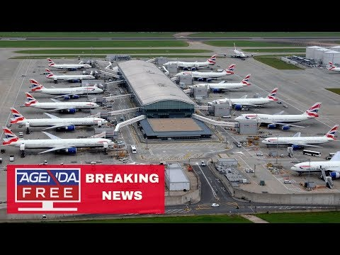"""Heathrow Flights Halted after """"Drone Sighting"""" - LIVE BREAKING NEWS COVERAGE"""