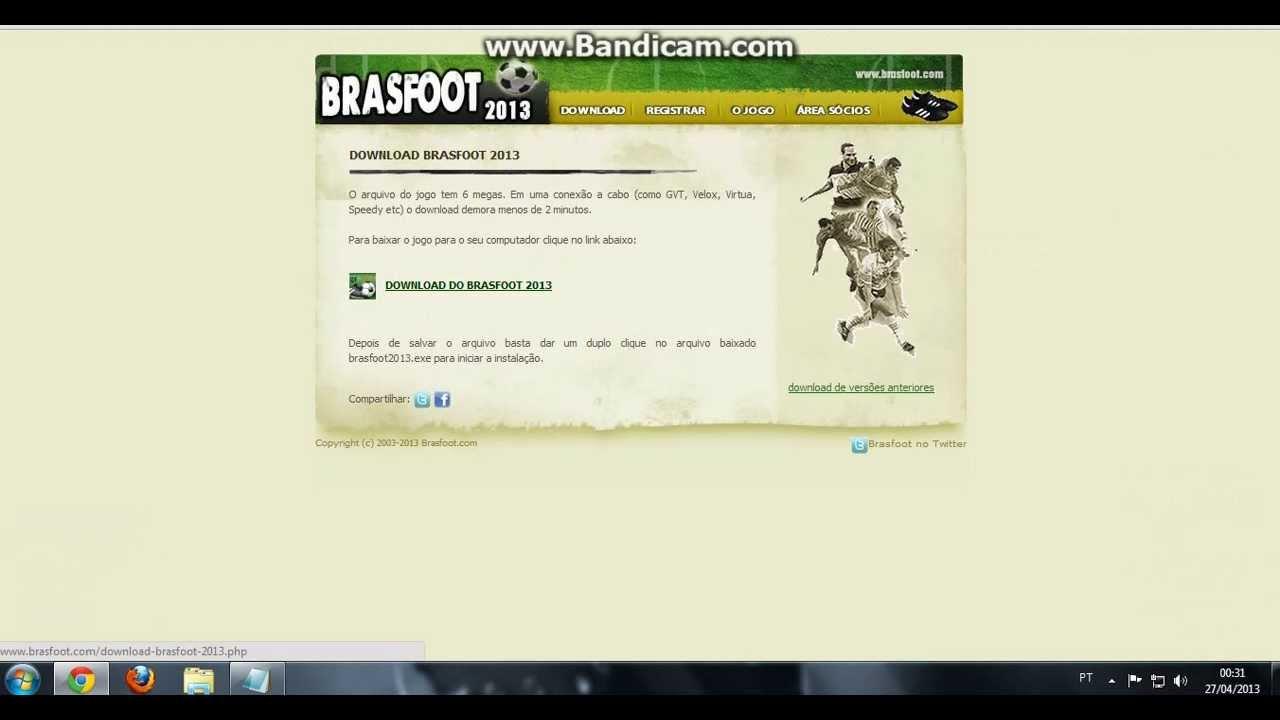 REGISTRADO GRATIS E 2013 BAIXAR BRASFOOT