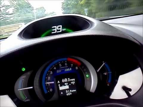 Honda Insight LX 2010, Hyper Miling 68 MPG, Video 2