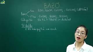 Hóa Học Lớp 9 –Bài giảng Bazo|Các hợp chất vô cơ |Giáo án|Cô Nguyễn Thị Kiều Anh