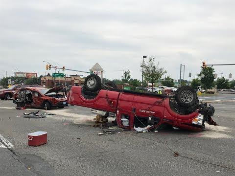 Serious car crash on MacArthur Road, Whitehall, PA 06/05/17