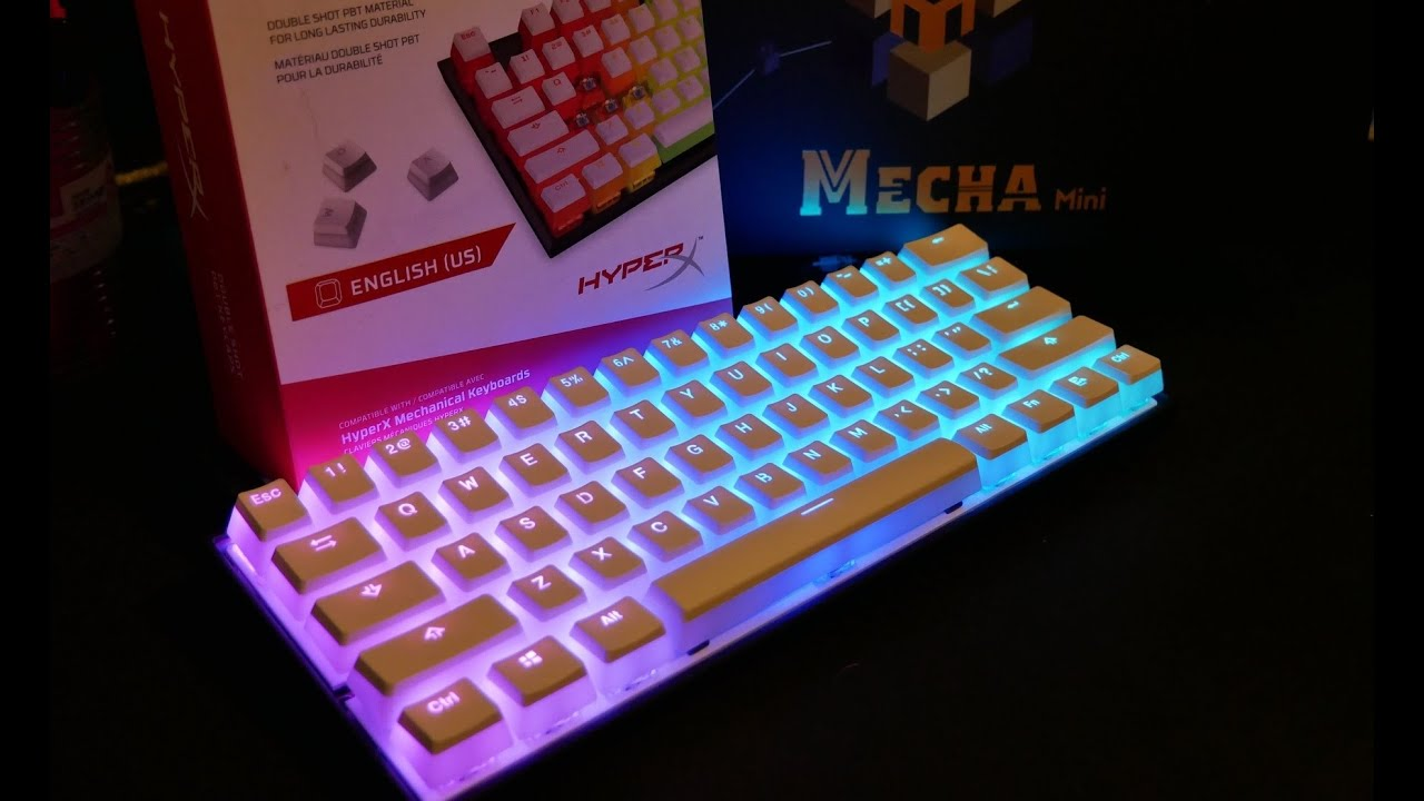 Hyperx White Pudding Keycaps New Ducky Mecha Mini Unboxing Review Install Sound Youtube