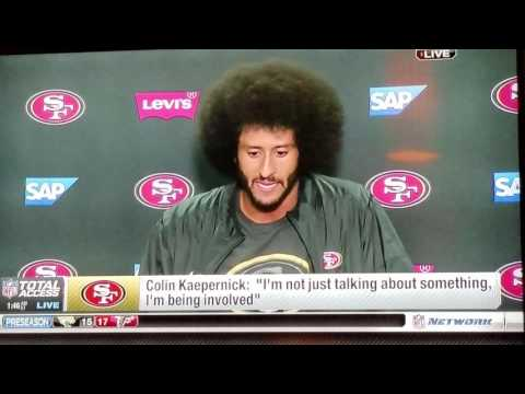 Colin Kaepernick Post Game Interview In San Diego, California