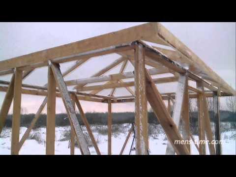 видео: ч.3 Бытовка своими руками  Стропилы  Вальмовая крыша