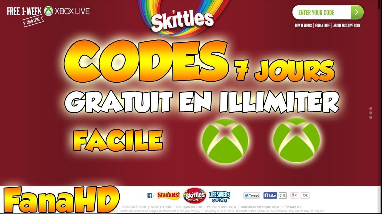 CODE 7 JOURS XBOX LIVE GRATUIT EN ILLIMITER [HD] - YouTube