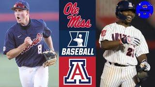 #12 Ole Miss vs #5 Arizona Highlights | Super Regional Game 1 | 2021 College Baseball Highlights