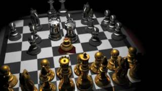 3D animation movie chess