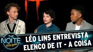 Léo Lins entrevista elenco do filme It - A Coisa | The Noite (06/09/17)