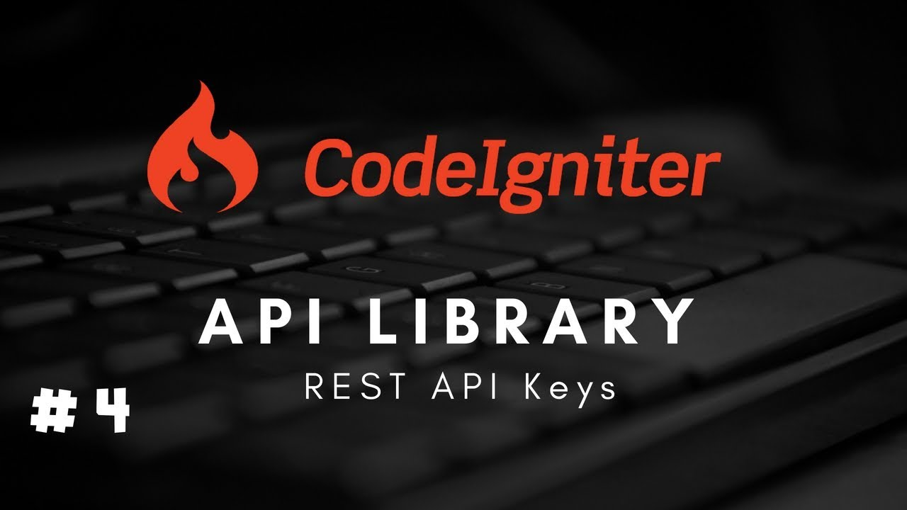 #4 CodeIgniter 3 x Restful #API Library - REST API Keys