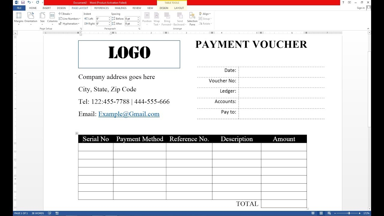 Captivating How To Make Payment Voucher On MS Word And Make Voucher