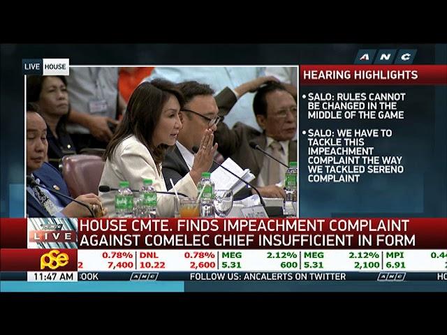 House panel junks impeach raps vs Comelec chief Bautista