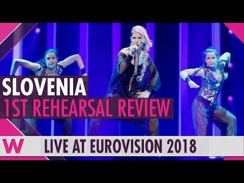 "Slovenia First Rehearsal: Lea Sirk ""Hvala, ne"" @ Eurovision 2018 (Review) | wiwibloggs"