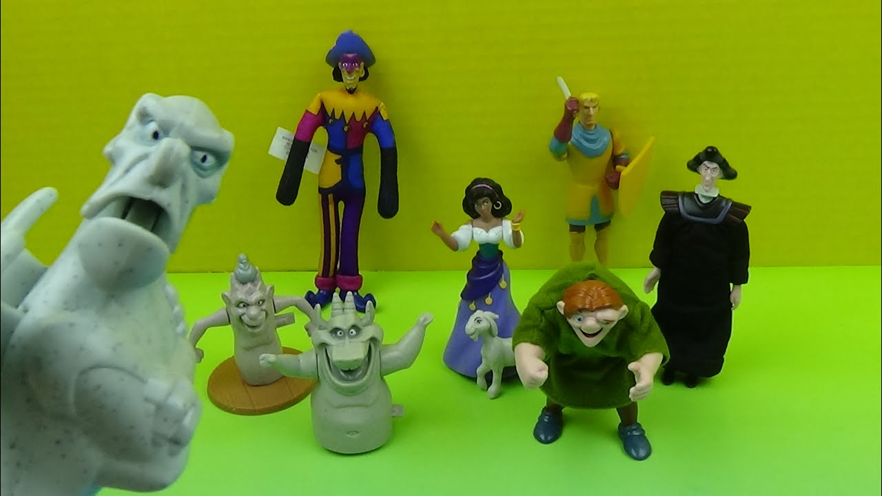 299f66c2a79ed 1996 BURGER KING'S HUNCHBACK OF NOTRE DAME FESTIVAL OF FUN KIDS' MEAL SET  OF 8 TOYS VIDEO REVIEW
