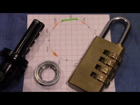 (picking 242) Instructions on decoding combination locks with false gates; sample: AMIG 4 wheels