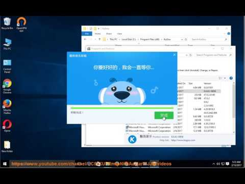 Uninstall Kugou Music 6 on Windows 10