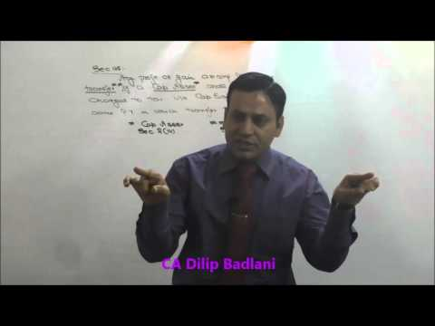 Income Tax : AY 16-17 : Capital Gains : Lecture 1