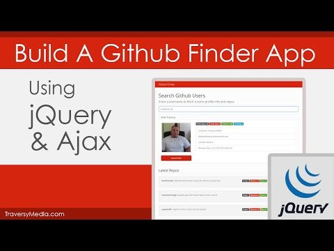 jQuery & Ajax: Build A Github Finder App