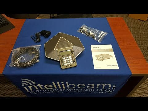 Yealink CP860 HD IP Conference Phone unboxing by Intellibeam