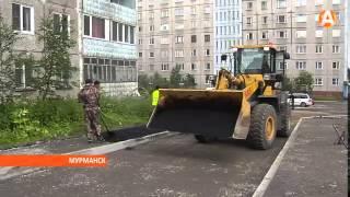 видео В Мурманске завершают дорожные ремонты