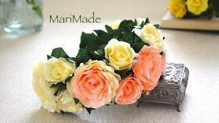ободок с Розами Цветы из Ленты Канзаши Roses Headband Flowers Flores