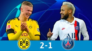 1/8_aller,_B.Dortmund_-_PSG_(2-1):_le_PSG_plie_face_à_Haaland_!