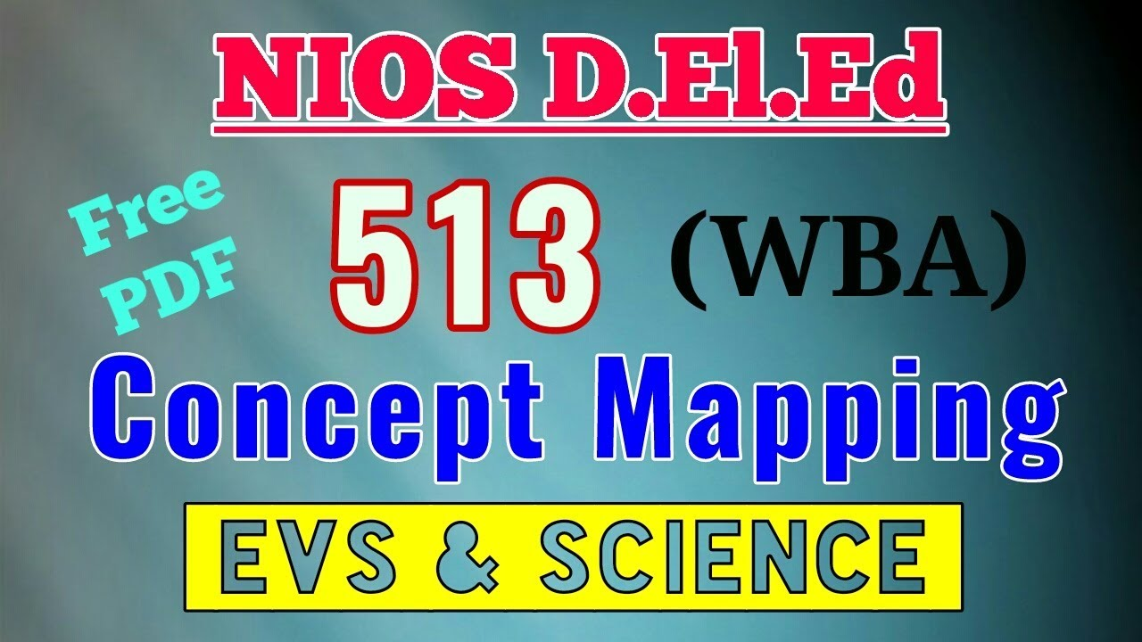 Nios D El Ed Concept Mapping Wba Course 513 Answers Solution With
