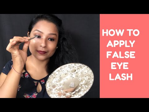 False Eye Lashes | how to apply , store clean Fake lashes