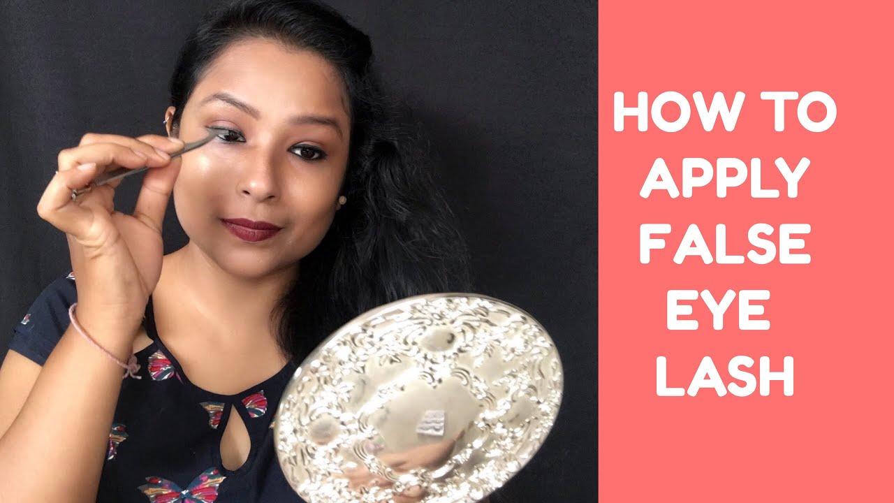 0181651e311 False Eye Lashes   how to apply , store clean Fake lashes - YouTube