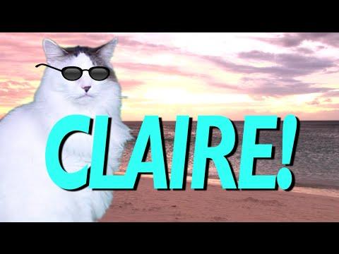 happy birthday claire HAPPY BIRTHDAY CLAIRE!   EPIC CAT Happy Birthday Song   YouTube happy birthday claire