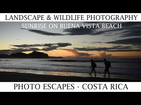 Landscape and Wildlife Photography - Sunrise on Buena Vista Beach in Costa Rica