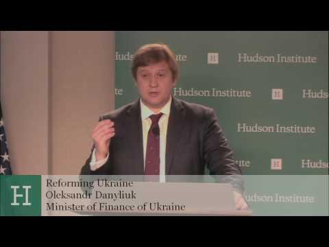 Reforming Ukraine: A Conversation with Minister of Finance Oleksandr Danyliuk