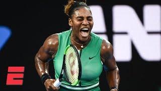 Serena Williams takes down No. 1 Simona Halep   2019 Australian Open Highlights Video