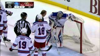 Gotta See It: Lundqvist takes puck straight to the family jewels