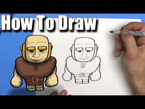 How To Draw a Giant from Clash of Clans  - EASY Chibi - Step By Step - Kawaii