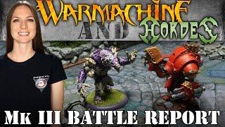 WarGamerGirl #26 Khador v Circle Warmachine 50pt Battle Report