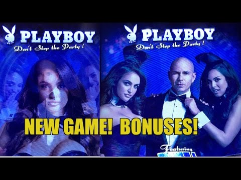 NEW! Playboy Don't Stop The Party Slot Machine with Pitbull