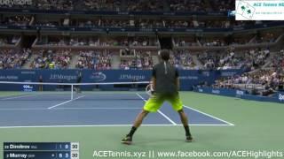 Andy Murray vs Grigor Dimitrov - US Open 2016 Highlights