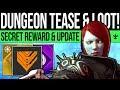 Destiny 2 | Bungie Teases NEW DUNGEONS! Secret Emblem, Future Content, Updates & Season Feedback!