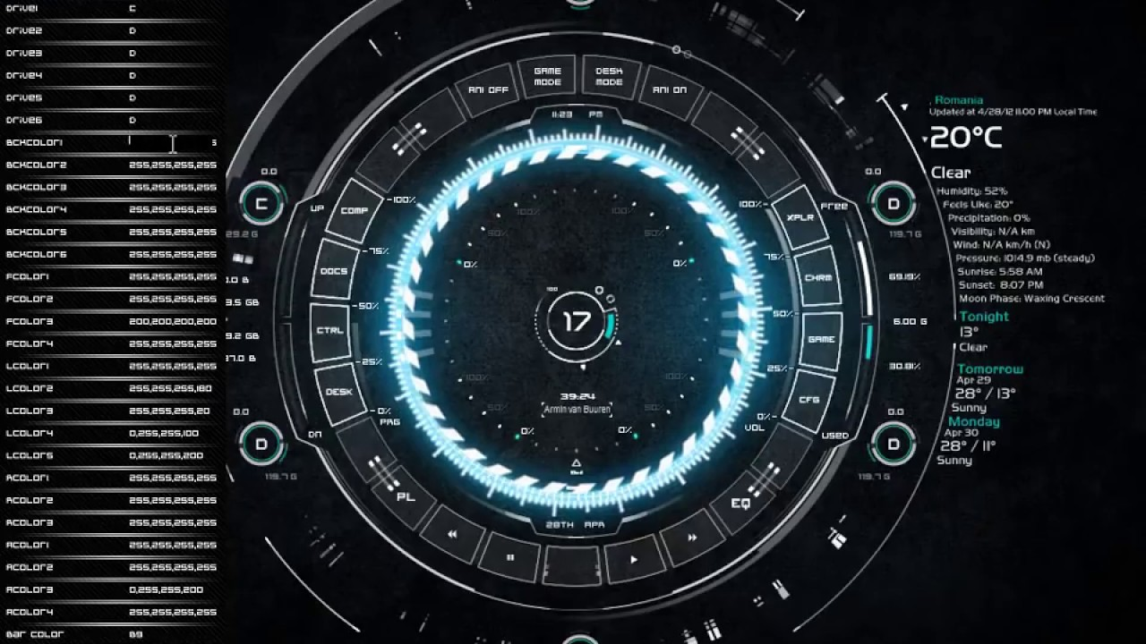 Tech A Rainmeter Skin Doovi