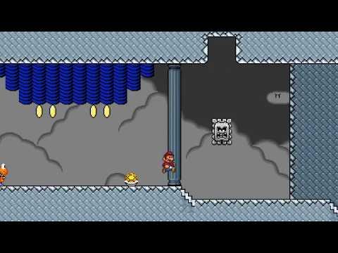 Super Mario Bros. X (SMBX) Custom Level - Ludwigs Sky Stronghold