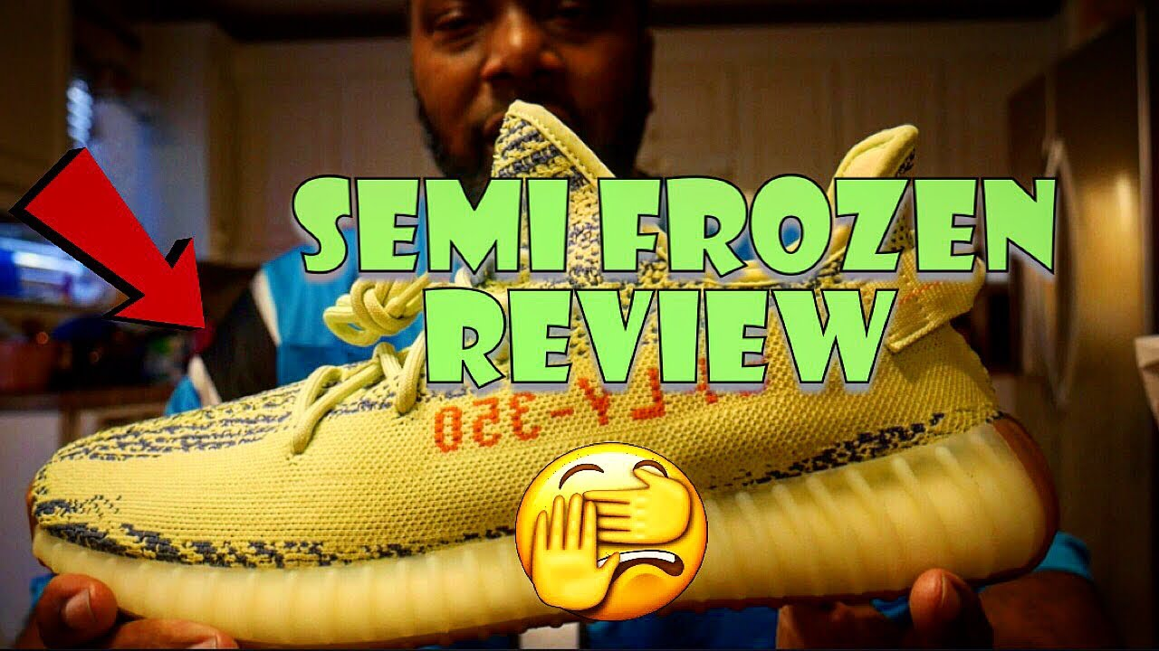 db921af58 Adidas Yeezy Boost 350 v2 Semi Frozen Yellow Unboxing