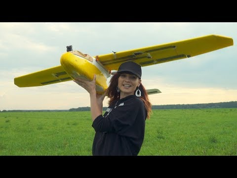 Huge RC Plane Flight With Beautiful Jeny
