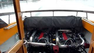 Boat with 2 Saab's turbocharged engines