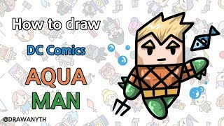 How to draw AQUAMAN / dc